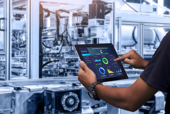 ndustrial enables real-time data analysis for instant decision-making and necessary pivots in the manufacturing process.